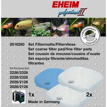 EHEIM Set 1 x Filtermatte & 2 x Filtervlies für 2026-2128 professionel II & 2226-2328
