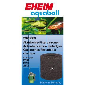 EHEIM Aktivkohlepatrone für Innenfilter 2208-2212, aquaball 60-180 & biopower 160 2 Stück