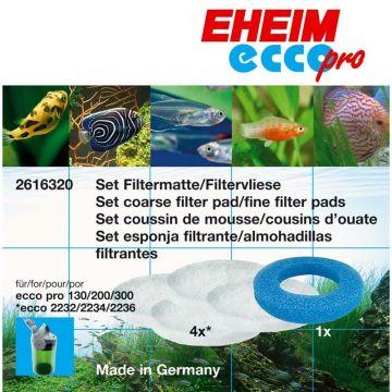 EHEIM Set 1x Vorfiltermatte und 4x Filtervlies für eccopro 130 , 200 und 300