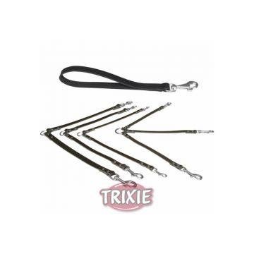 Trixie Koppel Basic S bis M: 30 cm 13 mm, schwarz