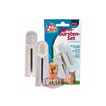 Trixie Zahnbürsten Set, Hund Katze 2 St.