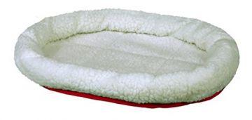 Trixie Kuschelbett, wendbar 47 × 38 cm, rot wollweiß