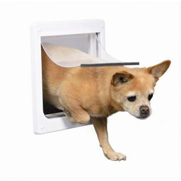 Trixie 2 Wege Freilauftür für Hunde XS bis S, weiß