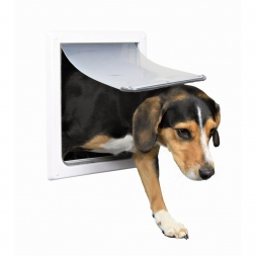 Trixie 2 Wege Freilauftür für Hunde S bis M, weiß