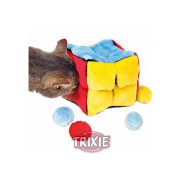 Trixie Plüschwürfel mit 4 Catnip Bällen 14 × 14 × 14 cm