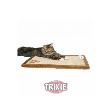 Trixie Kratzmatte mit Plüschrand 55 × 35 cm, braun