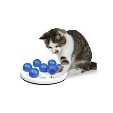 Trixie Cat Activity Solitär  20 cm, weiß blau
