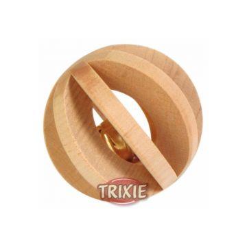 Trixie Lamellenholzball mit Schelle  6 cm