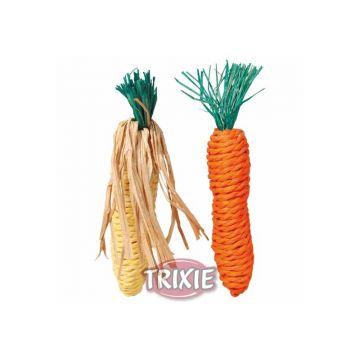 Trixie Karotte und Maiskolben, Stroh 15 cm, 2 St.