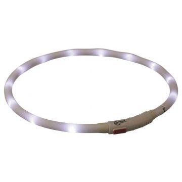 Trixie Flash Leuchtring USB weiß XS-XL 70 cm / 10 mm