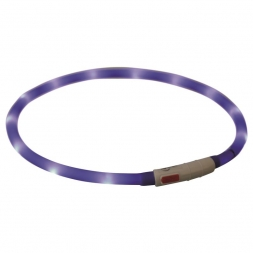Trixie Flash Leuchtring USB royalblau XS-XL 70 cm / 10 mm