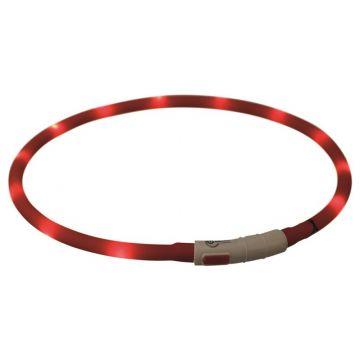 Trixie Flash Leuchtring USB rot XS-XL 70 cm / 10 mm