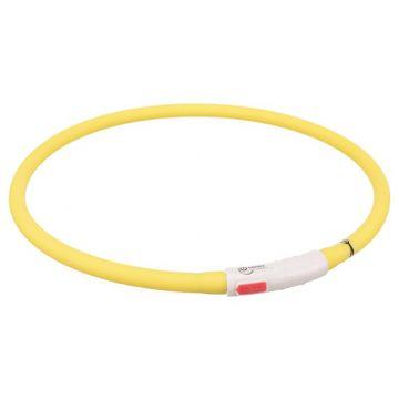 Trixie Flash Leuchtring USB gelb XS-XL 70 cm / 10 mm