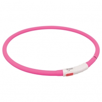 Trixie Flash Leuchtring USB pink XS-XL 70 cm / 10 mm
