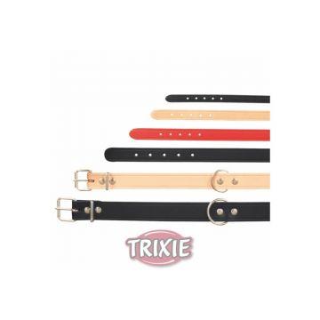 Trixie Halsband Basic S bis M: 33 bis 39 cm 16 mm, natur