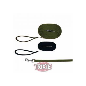 Trixie Schleppleine, Gurtband 10 m 20 mm, grün