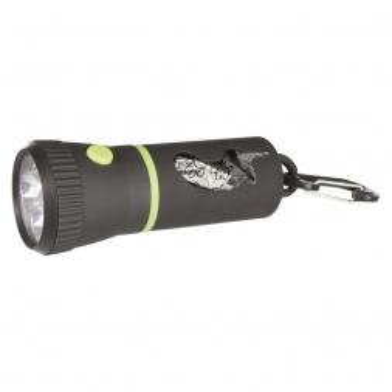 Trixie LED Lampe mit Beutelspender inklusive 1 Rolle Größe M 17 cm schwarz