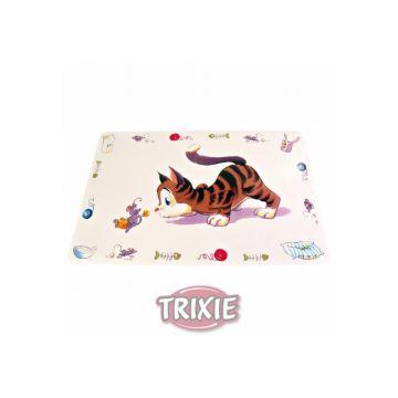 Trixie Napfunterlage Comic Katze 44 × 28 cm