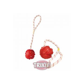Trixie Ball am Seil, schwimmt, Naturgummi  7 cm 35 cm