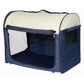Trixie Transporthütte Gr. 1: dunkelblau beige