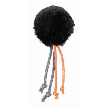 Trixie Plüschball mit Schelle Feder  4 cm