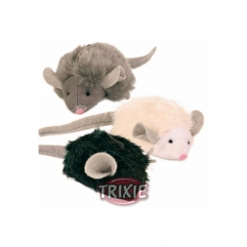 Trixie Squieky Plüschmause 6 cm (Menge: 12 je Bestelleinheit)