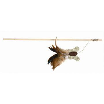 Trixie Spielangel mit Schmetterling Federn 45 cm