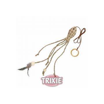 Trixie Fisch mit Federn am Gummiband 27 cm 57 cm