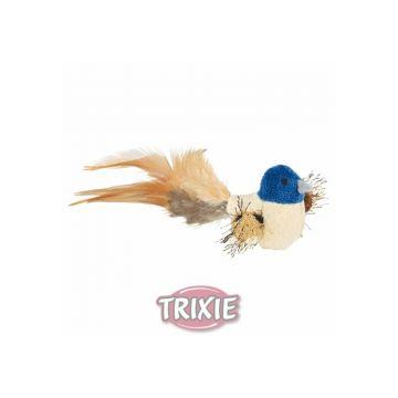 Trixie Vogel mit Federn, Plüsch 8 cm