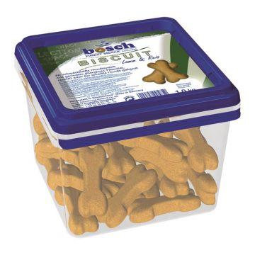 Bosch Dog Biscuit Lamm & Reis 1kg Eimer