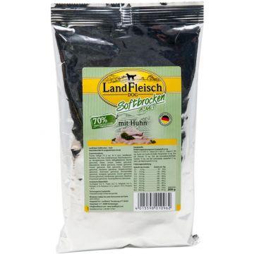 Landfleisch Dog Softbrocken mit Huhn 200 g