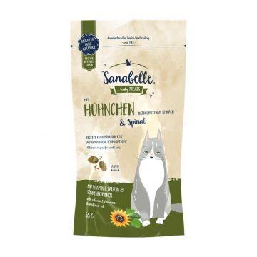 Sanabelle Knusperkissen Huhn & Spinat 55 g (Menge: 20 je Bestelleinheit)