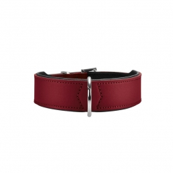 Hunter Halsband Basic 32 rot/schwarz 24 - 28,5 cm / 26 mm