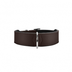 Hunter Halsband Basic 32 braun/schwarz 24 - 28,5 cm / 26 mm