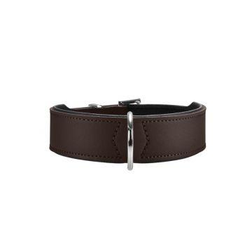 Hunter Halsband Basic 42 braun/schwarz 35 - 39,5 cm / 26 mm
