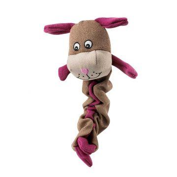 Hunter Spielzeug Stretch Body Dog br./pink 35cm