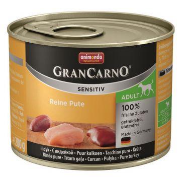 Animonda GranCarno Adult Sensitive Pute pur 200g (Menge: 6 je Bestelleinheit)