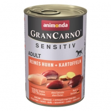Animonda GranCarno Adult Sensitive Huhn + Kartoffeln 400g (Menge: 6 je Bestelleinheit)