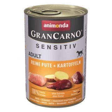 Animonda GranCarno Adult Sensitive Pute + Kartoffel pur 400g (Menge: 6 je Bestelleinheit)