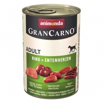 Animonda GranCarno Adult Rind & Entenherzen 400g (Menge: 6 je Bestelleinheit)