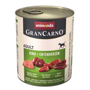Animonda GranCarno Adult Rind + Entenherzen 800g (Menge: 6 je Bestelleinheit)