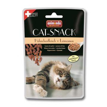 Animonda Cat-Snack Hühnchenfleisch & Leinsamen 45g