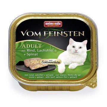 Animonda vom Feinsten mit Schlemmerkern mit Rind, Lachsfilet & Spinat 100g (Menge: 32 je Bestelleinheit)