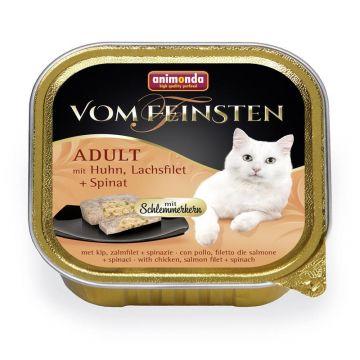 Animonda vom Feinsten mit Schlemmerkern mit Huhn, Lachsfilet & Spinat 100g (Menge: 32 je Bestelleinheit)