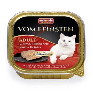 Animonda vom Feinsten mit Schlemmerkern mit Rind, Hühnchenbrust & Kräutern 100g (Menge: 32 je Bestelleinheit)