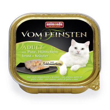 Animonda vom Feinsten mit Schlemmerkern mit Pute, Hühnchenbrust & Kräuter 100g (Menge: 32 je Bestelleinheit)
