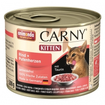 Animonda Carny Kitten Rind & Putenherzen 200g (Menge: 6 je Bestelleinheit)
