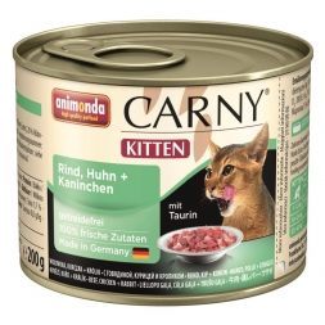 Animonda Carny Kitten Rind & Huhn & Kaninchen 200g (Menge: 6 je Bestelleinheit)