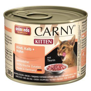 Animonda Carny Kitten Rind & Kalb & Huhn 200g (Menge: 6 je Bestelleinheit)
