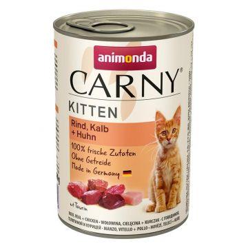 Animonda Carny Kitten Rind & Kalb & Huhn 400g (Menge: 6 je Bestelleinheit)